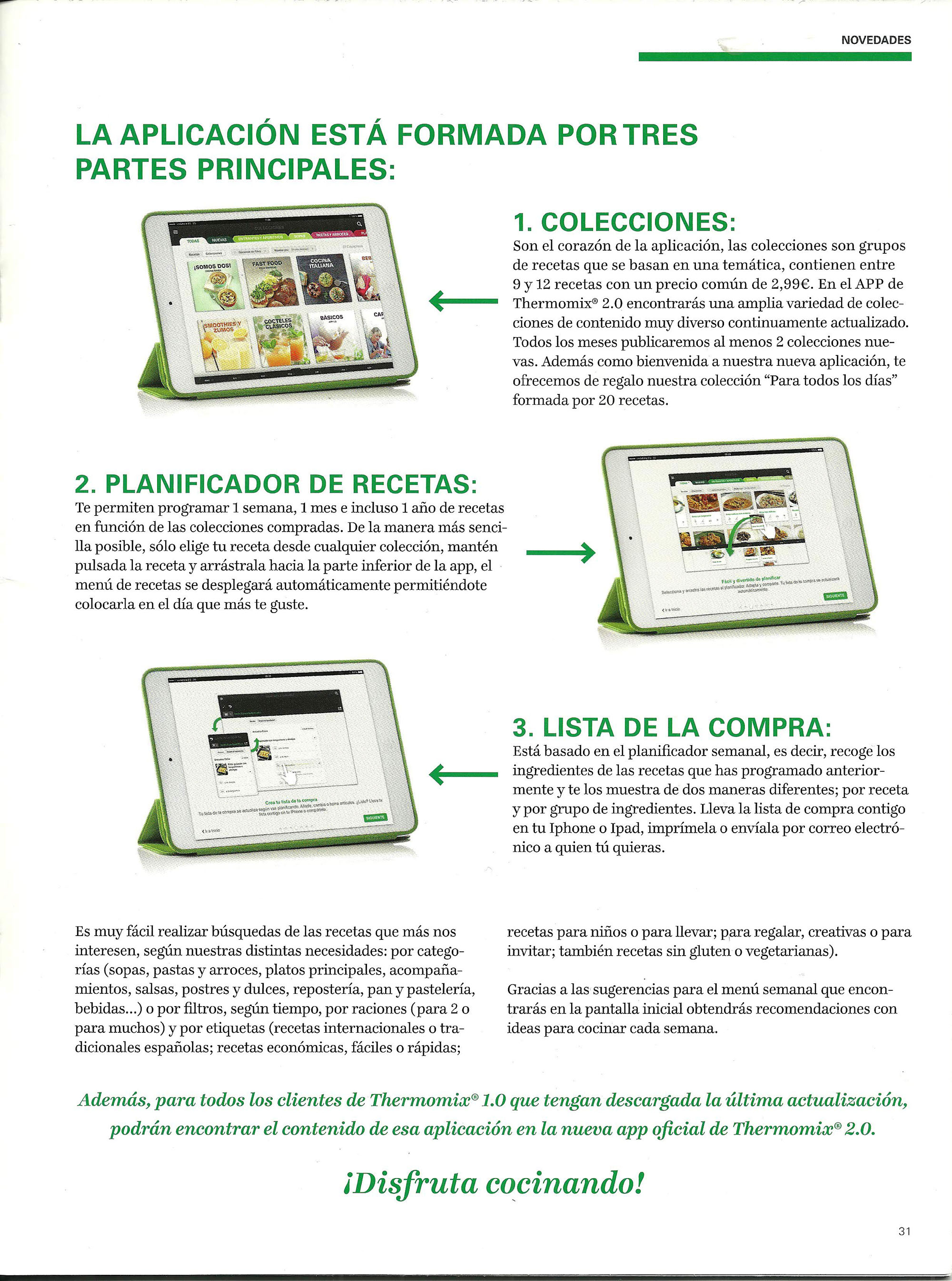 app oficial de Thermomix® para IPHONE y IPAD