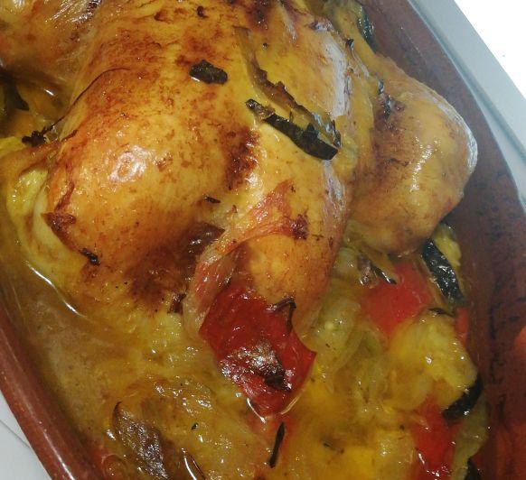 Pollo asado en varoma
