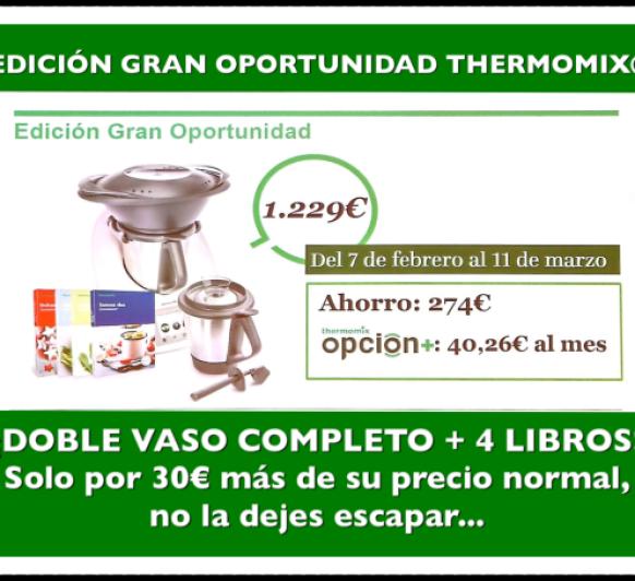 Thermomix® : GRAN OPORTUNIDAD, DOBLE VASO Y 4 LIBROS