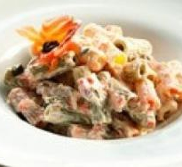 Ensalada templada de pasta