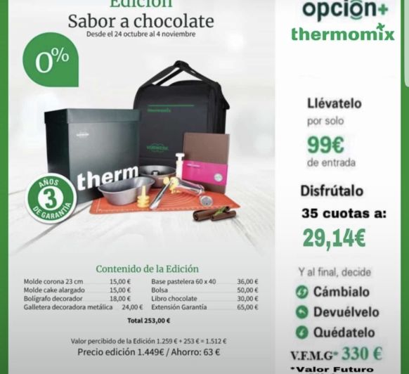 Thermomix® SABOR A CHOCOLATE SIN INTERESES