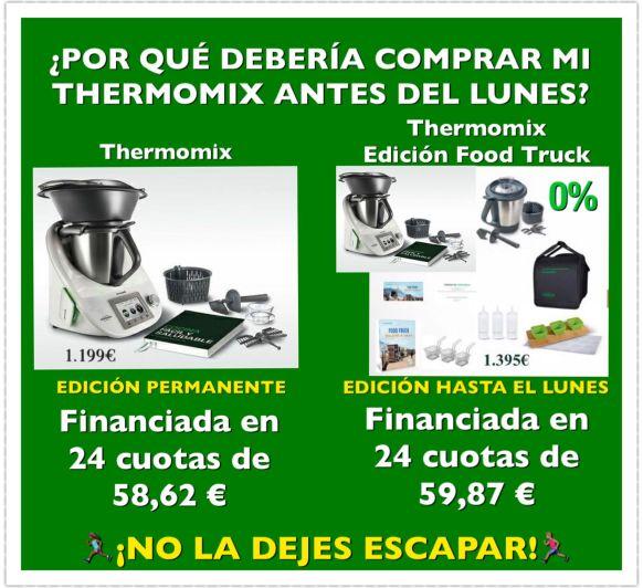 ¿POR QUÉ DEBERÍA COMPRAR MI Thermomix® ANTES DEL LUNES?