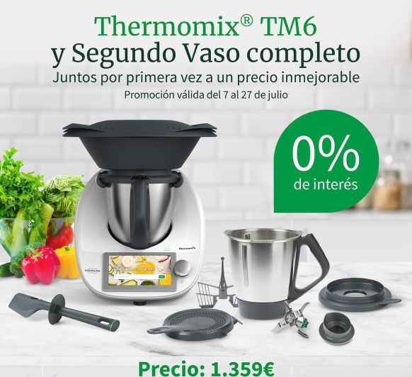 HOY FIN Thermomix® SIN INTERESES Y DOBLE VASO