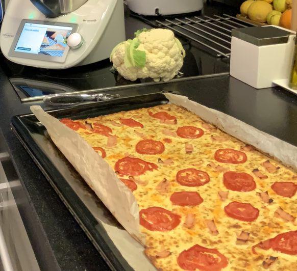 PIZZA DE COLIFLOR (sin gluten)