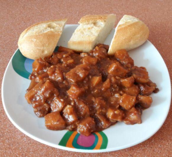 Jibia en salsa de almendras
