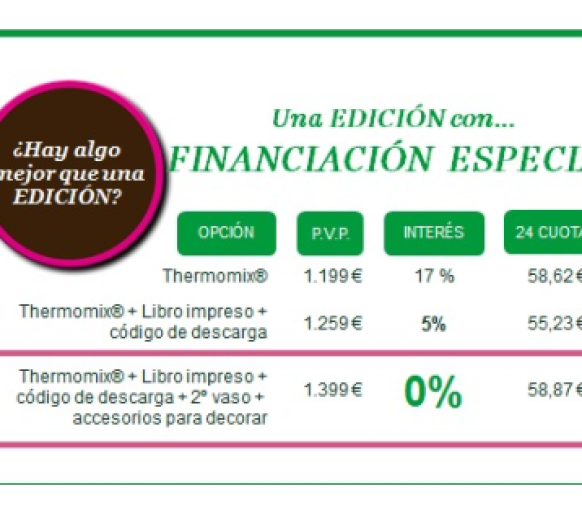 ESPECIAL FINANCIACIÓN 0%